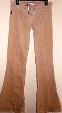 Plastic Jeans Womens Size 11 X 32 Off Tan Pleated Belted Corduroy Pants NWOT