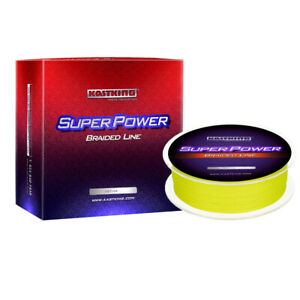 KastKing Superpower Braided Line Super Strong Line- 327Yards - 10LB - Yellow