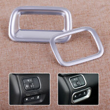 2x Silver Inner Light Lamp Switch Button Cover Trim Fit For KIA Optima K5 2016