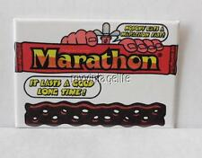 "Vintage MARATHON CANDY BAR 2"" x 3"" Fridge MAGNET Art NOSTALGIC"