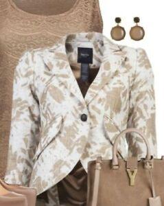SMYTHE Graffiti Pouf Sleeve 1-Button Linen Blazer Jacket Size 6! Gorgeous!