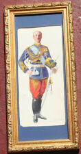 Antique Museum Quality Military Watercolor Painting of a Russian ? General