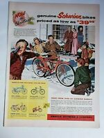 Lot 12 Vintage Bike Print Ads Schwinn Murray Roadmaster Huffy Monark