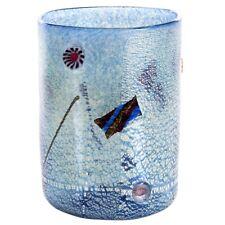 Jar cylindrical glass Murano murrina millefiori silver idea gift