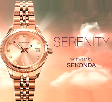 "Sekonda Serenity 2764 Rose GP Watch TV Advertised ""The Big Audition""  2 Yr Guar"