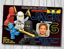 NINJAGO Invitation Birthday Party Invite NINJA LEGO YOU PRINT Digital File