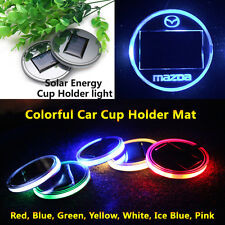 2pcs Solar Energy Cup Holder LED Car Light Lamp Parts For Mazda Accessories