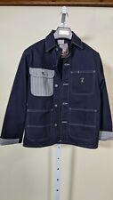 LC King Pointer Brand Indigo Denim Herringbone Pocket Chore Jacket XS USA NWT