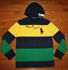 NWT Men's Polo Ralph Lauren Hooded Hoodie Long Sleeve T-Shirt BIG PONY $69 *4U