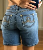 "Seven 7 Women's 8"" Denim Jean Shorts Size 4"