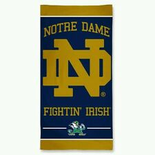 "NOTRE DAME GIANT BEACH TOWEL IRISH 30""X60"" HIGH QUALITY GRAPHICS 100% COTTON"