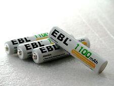 AAA NiMH 1100mAh PreCharged EBL 1500 Cycle Rechargeable Batteries 4PK FREE SHIP!