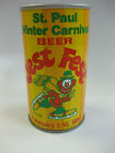 August Schell 1980 St. Paul Jest Fest Straight Steel Beer Can EMPTY