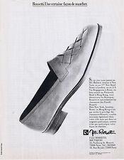 PUBLICITE ADVERTISING 054 1983 ROSSETTI chaussures Italiennes