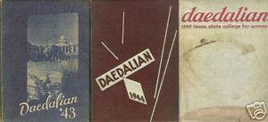 Texas State College for Women Daedalian 1943 1944 1946