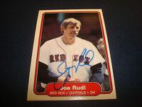 Joe Rudi Red Sox Angels A's 1982 Fleer #306 Signed Authentic Autograph Card A9