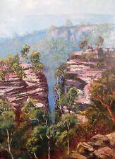 Ken Farrow original oil titled 'Katoomba' Australia