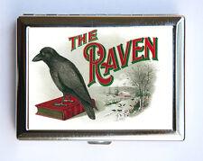 The Raven Cigarette Case Wallet Business Card Holder cigar label gothic crow