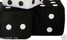 1950s Sock Hop Grease Party Decoration Car Prop PLUSH HANGING DICE ~ BLACK