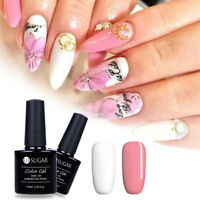 Pure White Pink Gel Polish LED UV Lamp Soak Off Nail Gel Varnish Manicure 7.5ml