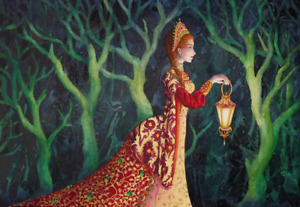Fantasy SOLSTICE Art GODDESS Enchanted WOOD Tales FAIRY Spirit CARD