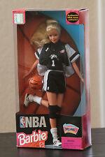 NBA 1998 San Antonio SPURS Barbie Vintage Fiesta Logo, Mint, New In Box
