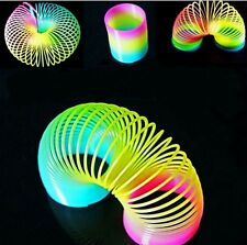 Glow in Dark Walking Rainbow Spring Toy Circle Slinky Magic Circle Stretchy Coil