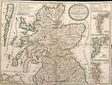 """CARTE """"LE ROYAUME D'ECOSSE"""" 1708"""