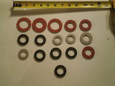 Lot of 16: Fiber Washers for Hobart Meat Grinder Worm Augers Several Sizes