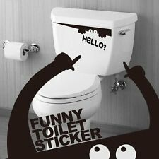 Black Monster Toilet Bathroom Stickers Wall Art Decal Removable DIY BT