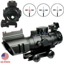 Tactical 4X32 Rifle Scope Fiber Optic Sight & Tri-illuminated BDC Range Recticle