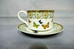 "Grace's Teaware: Set [4 Cups & 4 Saucers]  ""Butterflies"" <Perfect Condition>L@@K"