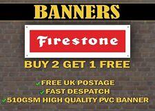 LARGE 2 METRE Firestone TYRES Banner for Garage / Shop Display