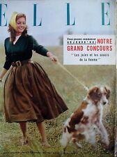 ELLE N° 0567 MIJANOU BARDOT MADEMOISELLE INSTITUTRICE 19 ANS FEMMES SEULES 1956