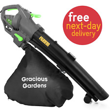 More details for leaf blower 3000w 3 in 1 electric garden vacuum for leaves vacs hoover 10m cable