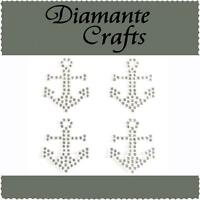 4 x 32mm Clear Diamante Anchors Self Adhesive Rhinestone Vajazzle Body Art  Gems