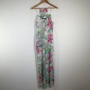 Zara womens jumpsuit size S multicolour floral sleeveless V neck