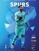 Spurs V Man Utd Premier League Programme June 2020 Free Uk Delivery