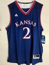 Adidas NCAA Jersey Kansas Jayhawks #2 Blue sz XL