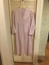 ALEXANDER DEL ROSSA GORGEOUS VICTORIAN NIGHTGOWN COTTON PINK FLORAL SIZE M