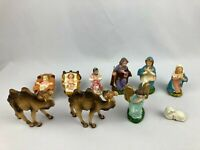 Lot of 10 Vintage Nativity Figures Camel Sheep Baby Jesus Mary Italy Japan