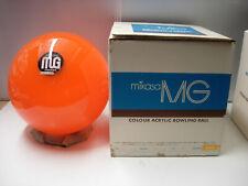 NIB undrilled 12#8 oz TW 3.5 Mikasa MG Colour Acrylic Orange Bowling Ball - B