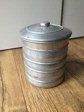 Aluminium Storage Tin Cannister with Lid Hammered Kitchenalia Genuine Vintage
