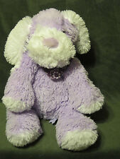 "ANIMAL ADVENTURE Target 2012 17"" Stuffed Plush PUPPY Purple White Bandana Floppy"