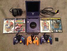 -Gamecube Lot Mario Kart Sunshine Sonic Metroid Prime Indigo + 3 Controllers