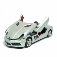 1/32 Mercedes-Benz SLR Convertible Model Car Diecast Toy Vehicle Kid Gift Silver