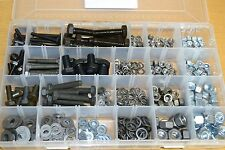 1/4 to 1/2 BSF Assorted Pack 540 pieces - mixed kit of BSF bolts, nuts & washers