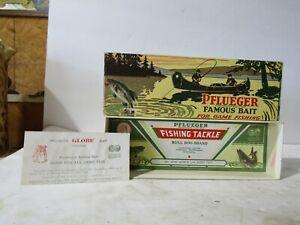 Pfluger 5 1/4 White Red Head 3796 Globe  Empty Box & Paper