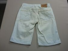 128 MENS EX-COND LEVI'S 511 SLIM STR8 GHOST BLUE DENIM SHORTS SZE 30 $110 RRP.