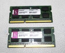 Kingston 4GB (2GB x2) PC3-8500 DDR3 CL7 Laptop Memory TSB1066D3S7DR8/2G